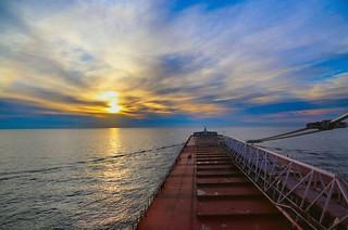 Calm Lake Superior Sunrise