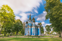 Orthodox church | Druskininkai, Lithuania #224/365 (A. Aleksandravičius) Tags: druskininkai lithuania lietuva europe nikon d750 summer 2018 joyofallwhosorrowchurch church orthodox hoyaprond1000 nd1000 hoya filters nd 1000 architecture long exposure town blue sun clouds 20mm f18g nikkor 365one 365days 3652018 nikond750 20mmf18g afdnikkor20mmf18ged nikkor20mm nikon20mm18g nikon20mm 365 project365 224365
