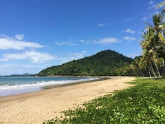 Bingil Bay, just north of Mission Beach. This was such a beautiful and peaceful part of the coast to visit 😍 (sallysetsforth) Tags: missionbeach beach queensland bingilbay