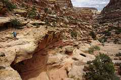 leaving the snack spot (rovingmagpie) Tags: utah fruita capitolreefnationalpark capitolreef fryingpantrail backcountry weather clouds summer2018 pinkhat kani