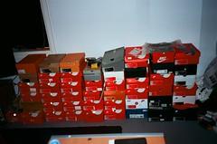Boxes (Cameron Oates [IG: ccameronoates]) Tags: 35mm film kodak ektar nike sneakers sneaker sportswear street photography
