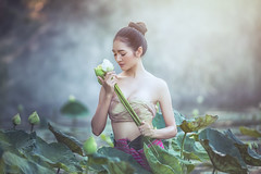 AW7A8634 (Bugphai ;-)) Tags: lotus beautiful dress flower nature thailand green people girl happy thai women white traditional garden lifestyle outdoor happiness day field laos beauty harvest young female person umbrella summer portrait adult healthy natural pretty face smile spring hair culture asia woman alone background vietnam wearing looking countryside walk basket red black