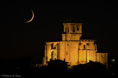 Iglesia de Olmedillo de Roa (Roberto_48) Tags: ngc olmedillo roa iglesia noche nocturna luna doble exposicion