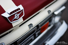 Pickup by Ford (Hi-Fi Fotos) Tags: ford pickup truck hood badge vintage american style design red chrome nikkor 50mm 14 nikon d7200 dx hififotos hallewell