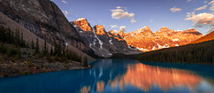 Alberta Morning (Brady Baker) Tags: alberta canada banff moraine lake travel national park valley ten peaks mountain range light sunrise dawn morning early glacier trees forest water reflection iconic viewpoint rubble sky