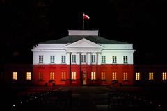 Belweder Palace in Warsaw (radkuch.13) Tags: europe poland warsaw belweder palace polish flag sony sonyalpha a7ii voigtlander