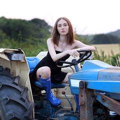 Tractor video! (unexpectedtales) Tags: tractor ford 400 model sunset