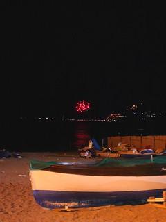 Fuochi d'artificio in costiera