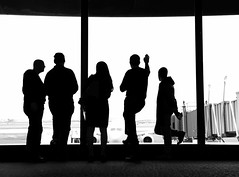 delayed (eb78) Tags: blackandwhite bw monochrome greyscale grayscale nj newjersey airport newark silhouette streetphotography iphone iphoneography