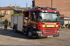 DSC_8937 (matthewleggott) Tags: humberside fire rescue service engine appliance exercise holme hall east riding yorkshire care home yj59cco scania emergency one brough