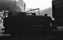 Bold, St Helens UK  |  1981 (keithwilde152) Tags: ncb bold colliery st helens joseph uk 1981 industrial railway depot watering plant steam locomotives blackandwhite monochrome autumn