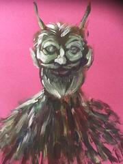 The Great God Pan (Ronald Hackston) Tags: painting drawing art trees vegetation green man pagan god greenman thegreenman folklore folk folkhorror