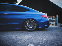 MERCEDES BENZ C COUPE AMG (JAYJOE.MEDIA) Tags: mercedes benz c coupe amg low lower lowered lowlife stance stanced bagged airride static slammed wheelwhore fitment 3sdm