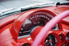 Inside the C1 (Eric Flexyourhead) Tags: minato minatoku 港区 osaka osakashi 大阪市 kansai 関西地方 japan 日本 museum carmuseum glionmuseum car american detail fragment chevrolet corvette chevroletcorvette c1 interior instruments gauges dashboard red sonyalphaa7 zeisssonnartfe55mmf18za zeiss 55mmf18