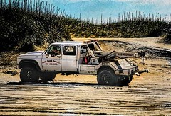 Waiting for one of those idiots to get stuck in the sand, Currituck NWR, North Carolina (PhotosToArtByMike) Tags: curritucknationalwildliferefuge tow truck outerbanks atlanticocean 4wheeldrive obx 4wd dunes secludedshoreline beach wildliferefuge sanddunes wildhorses shorebirds northcarolina nc outerbanksnorthcarolina carolinadunes curritucksound currituckcounty sea seashore shoreline