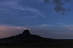 Perseid and Airplane (Tom Kilroy) Tags: cabezon midweekmarauders mwm newmexico nature landscape desert scenics night sky mountain astronomy starspace beautyinnature blue outdoors cloudsky nopeople rockobject travel usa majestic galaxy