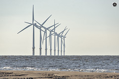 Wind Fanatics (alundisleyimages@gmail.com) Tags: windfarm turbines renewableenergy burbobank merseyside electricity generators beach tide weather ports harbours seascape sandbank wirral wallasey nikon sigma photography