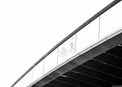 Connecting (andreasbrink) Tags: architecture detail italy people urban winter venezia blackwhite bridge minimalism