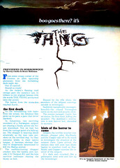 Famous Monsters #187 (1982) The Thing Preview 01 (gameraboy) Tags: vintage famousmonsters 187 1982 thething preview 1980s film movie johncarpenter