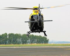 ZM525 JUNO REAQR VIEW EUROCOPTER EC-135 NEWCASTLE AIRPORT (toowoomba surfer) Tags: helicopter aviation ncl egnt