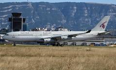 Airbus A340-211. A7-HHK. Qatar Airways Amiri Flight. (Themarcogoon49) Tags: qatar amiri airbus a340 aircraft planespotting gva lsgg cointrin airport switzerland avgeek aviation