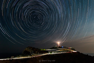 Star trail at Formentor's Lighthouse