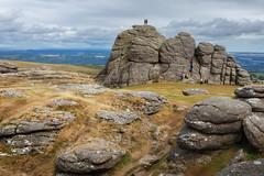Rock Climbing on Haytor (Rich Walker75) Tags: haytor dartmoor devon rock tor granite landscape landscapes landscapephotography landmark landmarks grass rocks cloud clouds canon england efs1585mmisusm eos80d eos