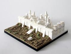 Lego Metropolis: Defence 1/4 (Klaus Hoffmeister) Tags: lego microscale moc afol metropolis architecture white cyberpunk scifi