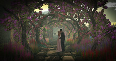 Truly Madly Deeply (larisalyn (Rachel)) Tags: flowers arch romance love couples secondlife lighting shadows sunset sunrise