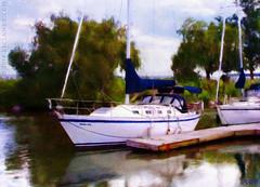 Sail Away.. (sbox) Tags: boats sailboats marina harbour painterly textures painting digital declanod sbox