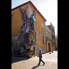 Warning : Big Rabbit ! (dominikfoto) Tags: porto portugal streetart art sculpture rabbit lapin fusina dominikfusina fuji streetphoto xpro1