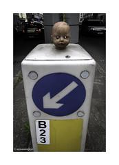 Bollard Baby 2 © (wpnewington) Tags: bollard head doll holloway lonson street discarded