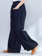 Women Elastic Waist Loose Wide Leg Pants with Zipper (1310176) #Banggood (SuperDeals.BG) Tags: superdeals banggood clothing apparel women elastic waist loose wide leg pants with zipper 1310176