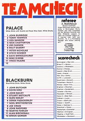 Crystal Palace vs Blackburn Rovers - 1978 - Page 20 (The Sky Strikers) Tags: crystal palace blackburn rovers selhurst park football league division two programme 20p
