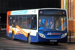 GX58 GNF, Stanhope Road, Portsmouth, December 29th 2015 (Southsea_Matt) Tags: gx58gnf 27561 stagecoach southdown alexanderdennis enviro300 adl e300 stanhoperoad portsmouth hampshire england unitedkingdom december 2015 winter canon 60d bus omnibus transport