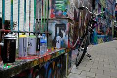 Tools (Jeremy Brooks) Tags: belgium bicycle bike gent ghent graffiti netherlandsbelgium2018 streetart urbanart werregarenstraat camera:make=fuji camera:make=fujifilm camera:model=xpro2