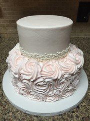 Pink Rosette Cake (dms81) Tags: girl 16thbirthday pearls rosettes cake birthday sweet16 pink