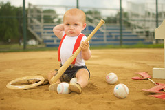 (Kasey Dungjen) Tags: baby infant photography birthday baseball nikon portrait photoshoot slugger ball cake one year old