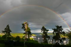 Fjorden (Leifskandsen) Tags: rainbow rain sun norway nature fjord oslofjorden water coast camera leica living leifskandsen skandsenimages scandinavia skandsen