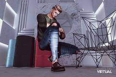 Titanium (Satuex Resident) Tags: ascend versov okuma titanium backdrop shoes pants jeans shirt glasses hair doux letre pose wrong bento mesh man male dude guy gay sl second life virtual secondlife secondlifevirtual satuex angelking satuexangelking angel king