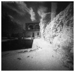 The good life - IR pinhole (Mark Dries) Tags: markguitarphoto markdries pinhole piglet cyprus infrared 720nm filter rollei ir400 mediumformat 6x6 film filmphotography expired 012018 long exposure