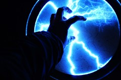 Energy (rachael242) Tags: hand arm fingers thumb light energy shadows abstract blue black colour color electric electricity nails circle shapes lightning lighting art