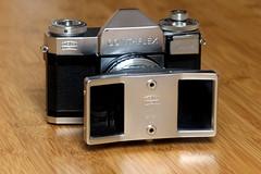 Contaflex Beta with Steritar D (814) (mkk707) Tags: zeissikonstyle zeissikoncontaflexbeta steritar zeissikonsteritard814 vintagelens vintagefilmcamera vintageequipment stereo