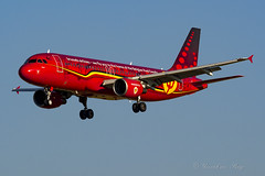 BEL_A320_OOSNA_BRU_Trident_Jun2018 (Yannick VP) Tags: civil commercial passenger pax transport aircraft airplane aeroplane jet jetliner airliner sn bel brusselsairlines airbus a320 320200 oosna trident reddevils special colors colours paint livery arrival approach landing rwy 01 brussels airport bru ebbr belgium be europe eu 2018 june aviation photography planespotting airplanespotting