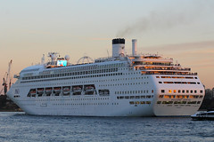 Pacific Jewel, Sydney, September 11th 2014 (Southsea_Matt) Tags: pacificjewel pocruises cruiseliner ship sunset sydneyharbour sydney australia newsouthwales boat marine vessel