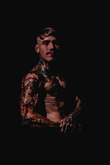 _BSC2456 (benni_schuetzenhofer) Tags: inked shredded shred tattoo tattooedup blackbackground abs sixpack huge muscle muscles big getbig fitness model athletic fit fitguy man male malemodel