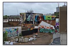STREET ART AS SEEN FROM HACKNEY WICK STATION (StockCarPete) Tags: hackneywick streetart londonstreetart urbanart graffiti london uk zabou dalegrimshaw martinron juanjiant