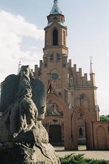 10 commandments (angry burger guy) Tags: statue church moses religion 35mm lithuania kernave kodak nikon