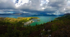 Idyllic view of Plockton from Creag nan Garadh (Donald Morrison) Tags: clouds sky creagnangaradh plockton scotland highlands coast sea