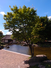 Japanese Garden (Litil Divil) Tags: hamburg germany sky cloud garden japan tree water